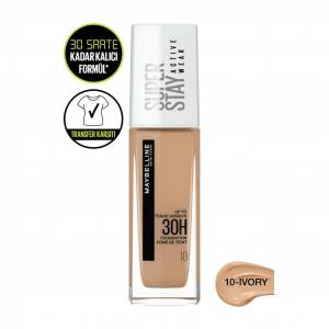 Maybelline New York Superstay Active Wear Fondöten- 10 Ivory