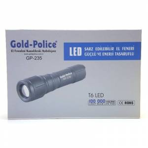 Gold Police GP-235 T6 LED el feneri