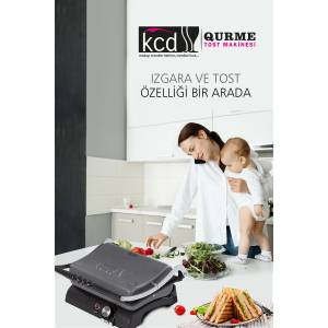 KCD QURME ANTRASİT TOST MAKİNESİ