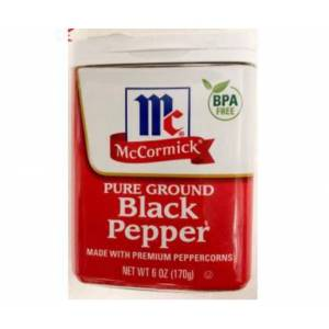McCormick Pure Ground Black Pepper SKT:12/24 MADE İN USA